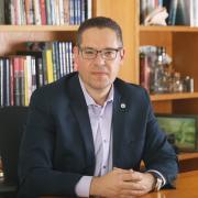 ברכתו של עמוס אלעד, סגן הנשיא לקשרי חוץ, פיתוח משאבים וענייני בוגרים לכבוד 5 שנים להקמת ארגון בוגרי האוניברסיטה